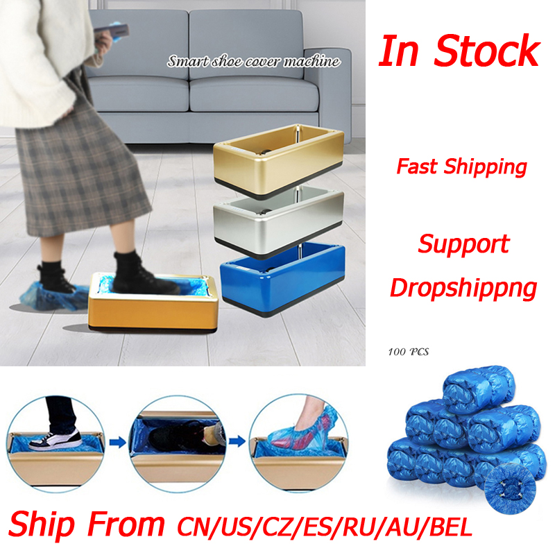 Dropshipping New Automatic Shoes Cover Dispenser Household Disposable Booties Maker Dustproof Machine Shoe Cover For Home Office