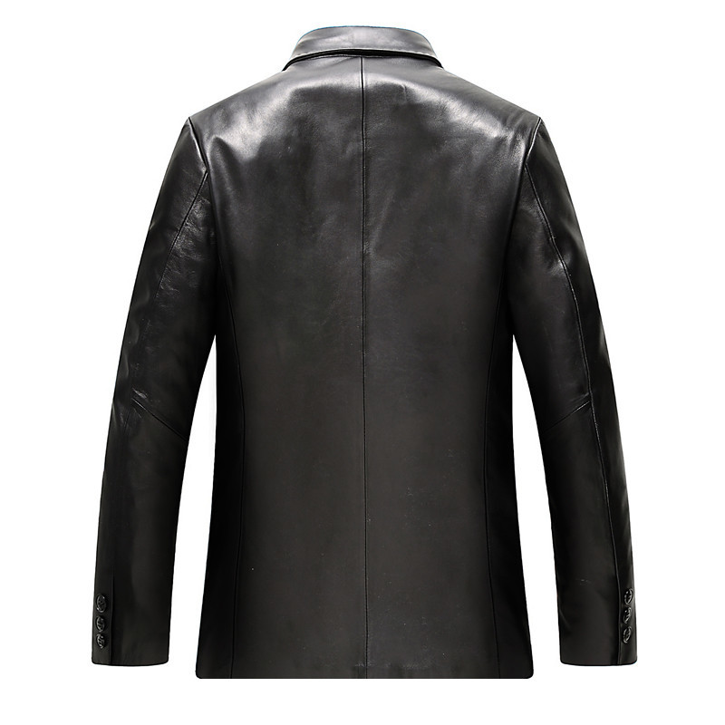 Genuine Leather Jacket Real Sheepskin Leather Coat Spring Autumn Plus Size Coats Casaca De Cuero Genuino WZM803 MF037