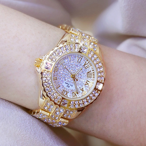 Image 2 - Women Watches Diamond Gold Watch Ladies Wrist Watches Luxury Brand Rhinestone Womens Bracelet Watches Female Relogio Feminino