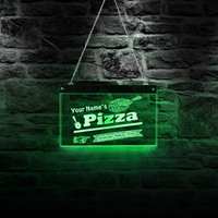 Custom Name Italian Pizza Neon Signs Led Neon Light Wall Sign for Cool Light Pizzeria LED Open Sign for Business Displays
