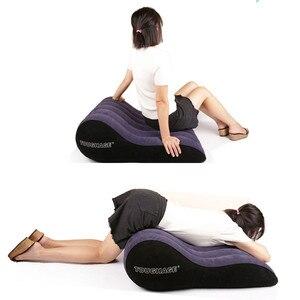 Image 2 - Sexo, sofá de tounghage cama inflable cuña almohada sexual silla inflable cojín de posición de amor pareja equipo para sexo muebles eróticos