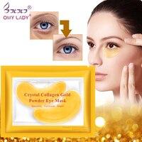 OMY LADY 1 para złote maski kryształowa maska kolagenowa na oczy przeciwzmarszczkowe płatki pod oczy na maska na oczy i twarz usuń czarną pielęgnacja oczu