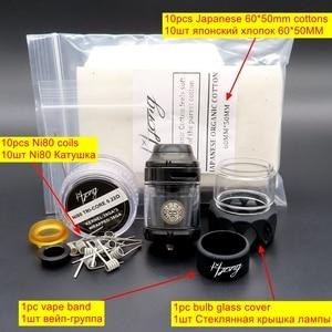 Image 5 - Hongxingjia Vape Zeus X RTA Atomizer parownik 3.5ml 4.5ml Pyrex szklany zbiornik pudełko na papierosy elektroniczne mody zestawy Vaper palacz
