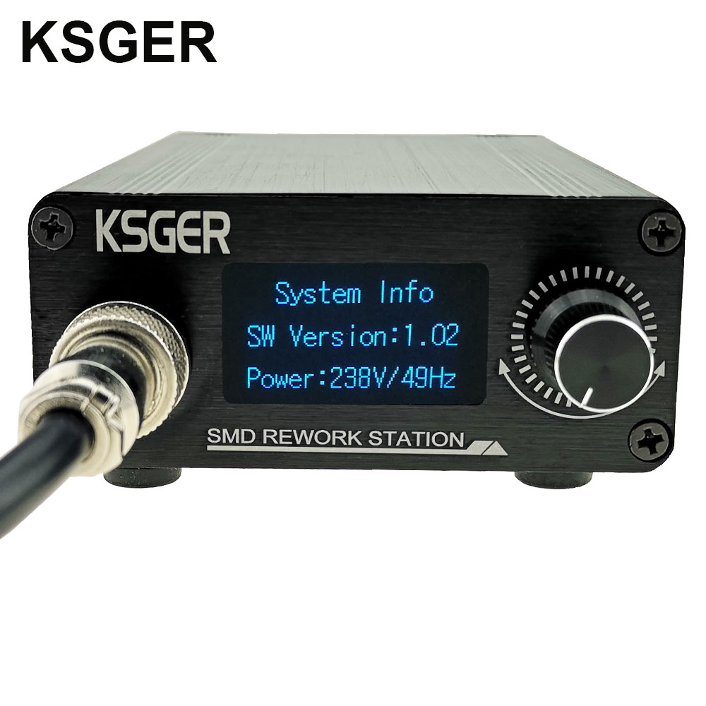 Image 2 - KSGER Hot Air Gun SMD Rework Station GX16 8 Solder Dryer Handle Electronic OLED T12 Nozzle Stand DIY Tools Quick Heating 700WElectric Soldering Irons   - AliExpress