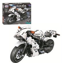 NEW Technic series White Street Moto Building Blocks Motorcycle Model Bricks Classic Toys Children Birthday Gift new 50pcs cross axle series bricks model building blocks toy boy technic parts children toys compatible with lego bricks