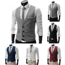 Хит, мужской деловой костюм, жилеты, приталенный мужской костюм, жилет, мужской жилет для свадебной вечеринки, Homme, Повседневный, без рукавов, деловой пиджак