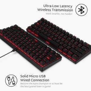 Image 5 - Rk royal classidge rk61 teclado de jogo mecânico, sem fio, 61 teclas, interruptor azul, led, bateria recarregável