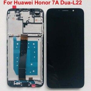 Image 2 - Pantalla LCD Original para Huawei Honor 7A Probado AAA, montaje de digitalizador con pantalla táctil con Marco, 100% dua l22, 5,45 pulgadas