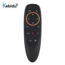 Kebidu receptor USB G10 G10S Air Mouse, Control por voz, 2,4G, con giroscopio, Mini mando a distancia inteligente inalámbrico para Android TV BOX