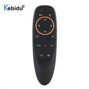 Image 1 - Воздушная мышь kebidu G10 G10S, голосовое управление, 2,4G, USB приемник G10s, с гироскопом, датчик, мини, беспроводной, умный пульт дистанционного управления для Android TV BOX