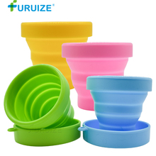 Furuize Menstrual Sterilizing Cup Collapsible women Cup flexible clean Menstrual Cup Recyclable Camping Foldable Sterilizer Cup недорого