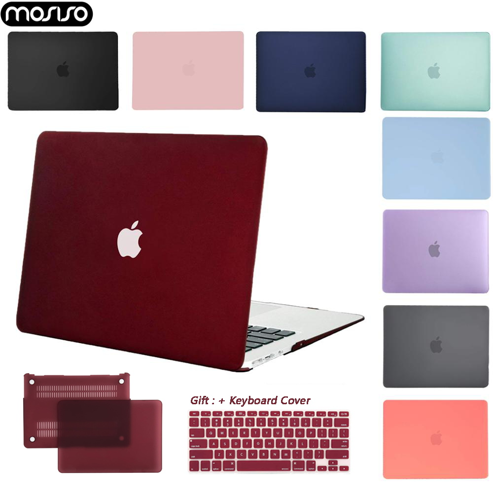 MOSISO Casca Dura Caso Laptop Para MacBook Air Pro Retina11 12 13 15 Laptop Capa para 2018 Novo Pro 15 13 polegada com Barra de Toque + Gift