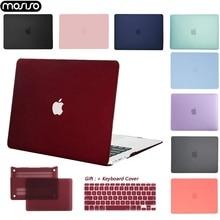 MOSISO Duro Borsette Per Il Computer Portatile MacBook Air Pro Retina11 12 13 15 Del Computer Portatile Della Copertura per il 2018 Nuovo Pro 15 13 pollici con Touch Bar + Regalo