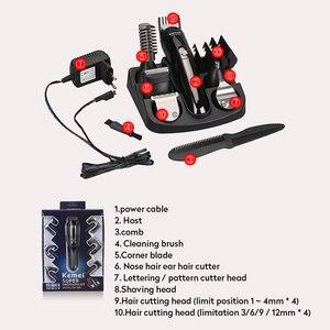 Image 5 - Kemei 6 w 1 elektryczna maszynka do strzyżenia włosów golenie maszyna trymer do brody maszynka do włosów ucho nos maszynka do włosów urządzenie do czyszczenia twarzy człowieka narzędzia fryzjerskie
