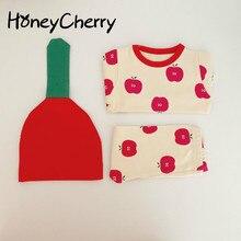 Infant Baby Mädchen Set baby schlafanzug home service paket druck baby unterwäsche mit hut Neugeborenen Baby Mädchen Kleidung