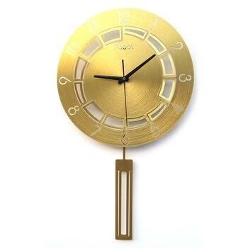 Wall Clock Simple Fashion Living Room Home Art Mute Quartz Clock Creative Personality Clock European Atmosphere Watch