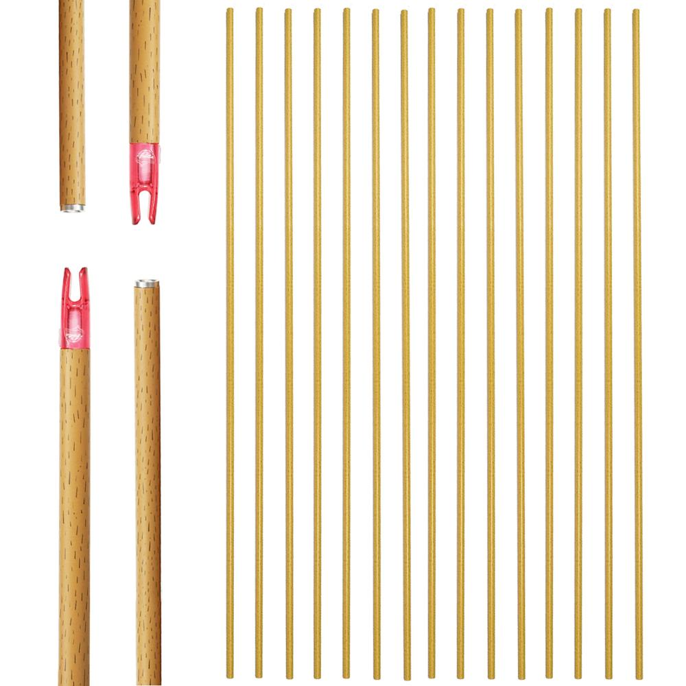 Archery Carbon Arrow Hunting Shafts 12Pack 400/500/600 Spine With Accessories 29/31Inch Wooden Design For Compound/Recurve Bows