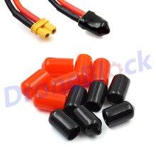 12 шт. XT30 резиновая клемма Изолированная Защитная крышка крышки блестящие заряженные/разряженные для Lipo батареи