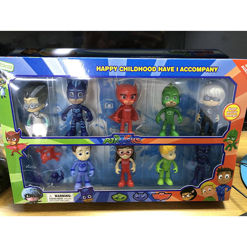11pcs Pj Masks Dolls Juguete Catboy Owlette Gekko TV PJ Mask Anime Action Figures Model Car Outdoor Active Toys For Children