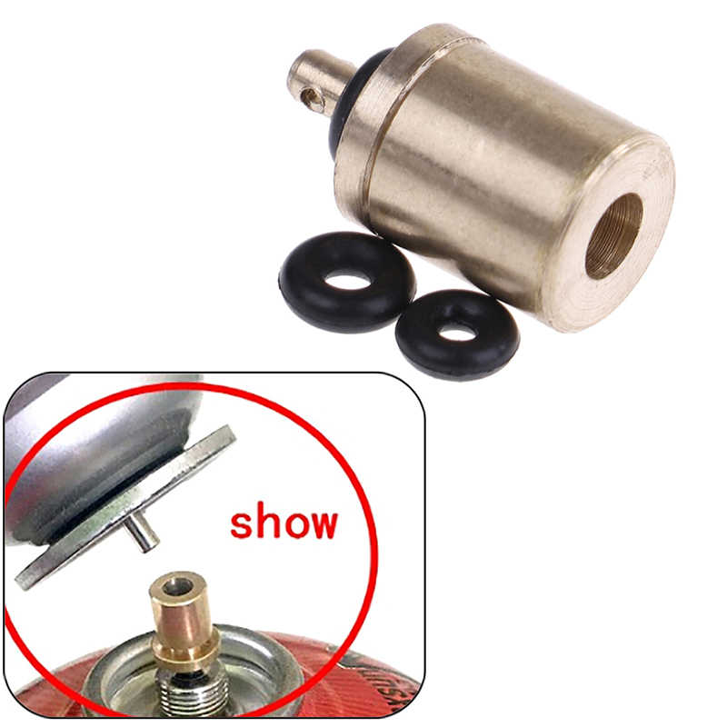 Camping Gas Stove Adapter Butane Canister Bottle Adapter Hiking Picnic Tank Tool