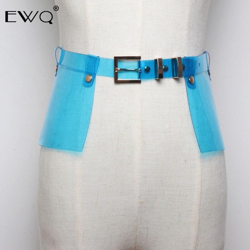 EWQ / Plastic PVC Leather Skirt Width Belt Plastic Transparent Waist Decoration Colours  Belt For Men And Women All-match 9Y110