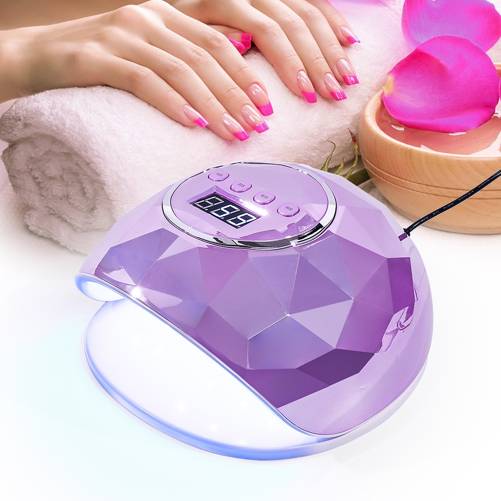 86W UV Lamp Nail Dryer Colorful Mirror Diamond Nail Lamp Pro UV 39LEDs Nail Gel Quick Dry Device for Manicure Timer LCD Display(China)