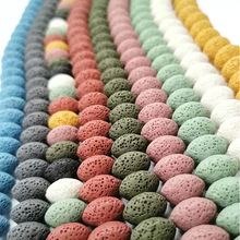 Natural Lava Rock Beads5X8/10x15mm Multi Color Volcanic Stone Loose Beads For DIY Necklace Bracelets Earring Jewelry Making
