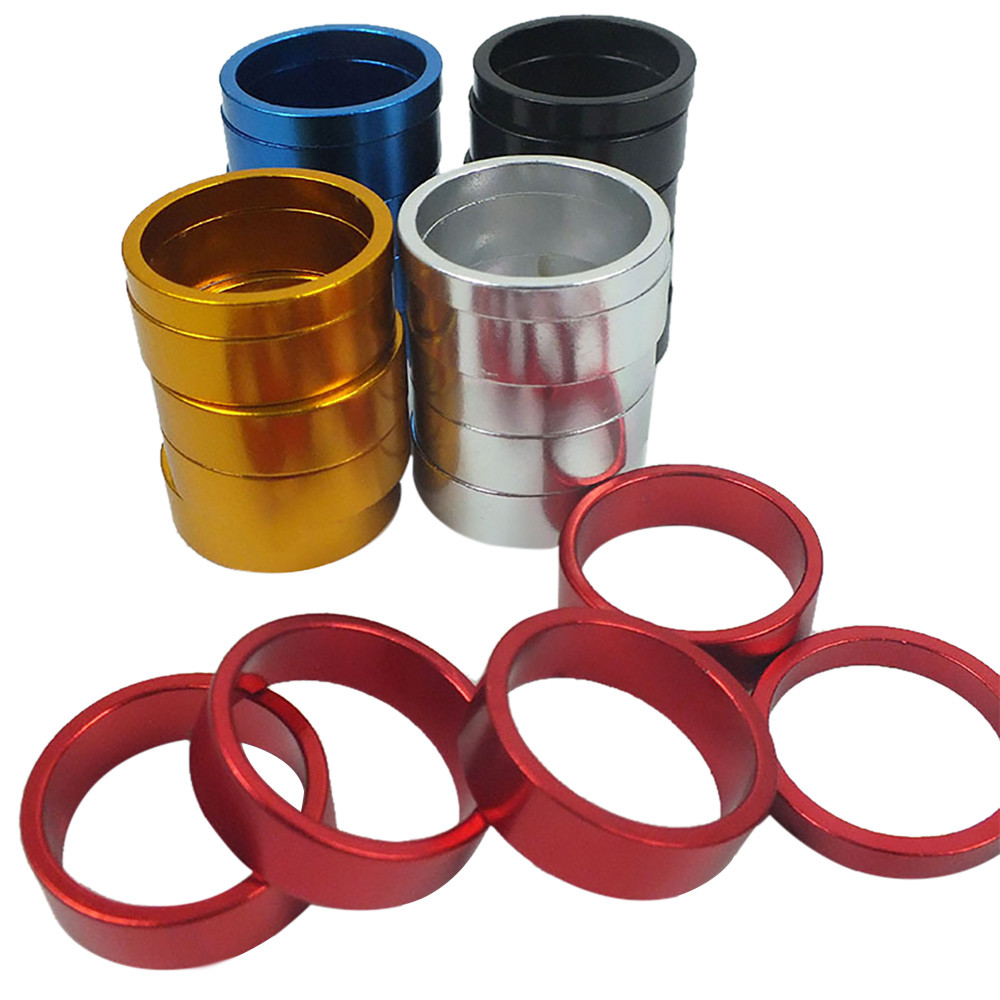 Color Aluminum Alloy Mountain Bicycle Head Tube Washer Bike Headset Stem Spacer #4R09 (5)