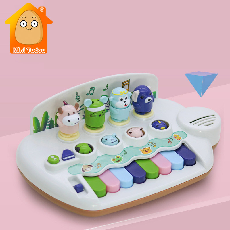 Multifunction Musical Keyboard Piano Baby Plastic Electronic Cute Animal Music Instruments Educational Toys For Children Gift