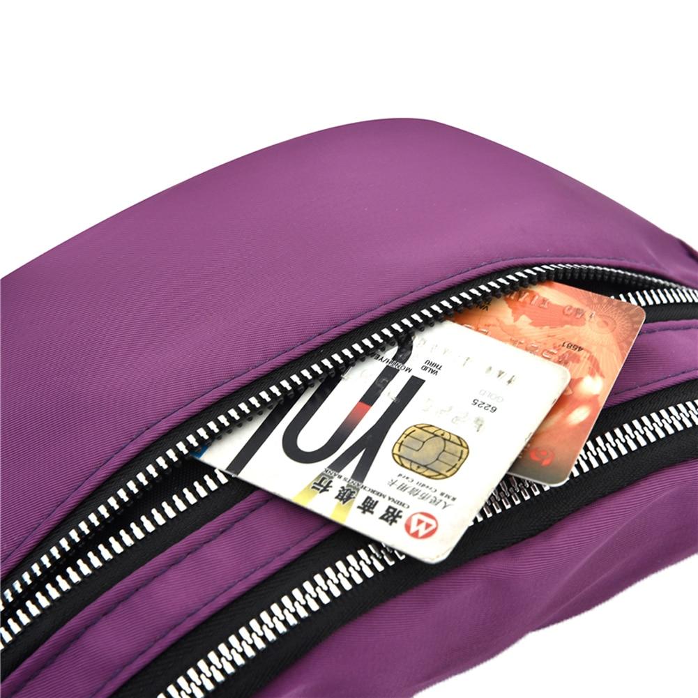 Women Ladies Female Waist Pack Zipper Adjustable Belt Solid Mini Shoulder Bag Crossbody Bag Sports Travel Cycling Casual  Bag 5