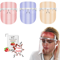 3 Colors LED Mask Professional Facial Photon Light Therapy Beauty Device Face Tightening Rejuvenation Whitening Anti Aging Tool