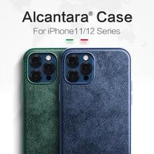 Чехол для телефона SanCore с алькантарой для iPhone 12 12Pro 12ProMax 12Mini 11 Pro Max X Xs XsMax
