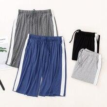 Pajamas Beach-Pants Plus-Size Shorts Outerwear Modal Sleep Summer Knee-Length Striped