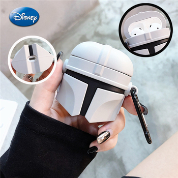 Mandalorian Airpods 1 2 3 Bluetooth Earphone Case Airpods Protective Cover Silicone Keychain Earphone Case for Kids Adult Gifts finn jake bmo cartoon bluetooth earphone case for airpods 1 2 3 cute protective cover for airpods pro accessories with keychain