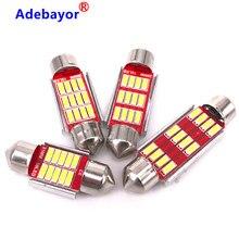 Festoon luz automática de 12smd 100 led, 4014 peças, 31mm, 36mm, 39mm e 41mm, c5w, canbus, sem erros lâmpada para leitura em casa e interior do carro, misturada, atacado