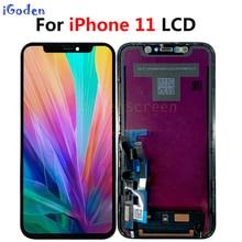 Original para iphone 11 display lcd para iphone 11 tela de toque digitador assembléia substituição para iphone 11 lcd