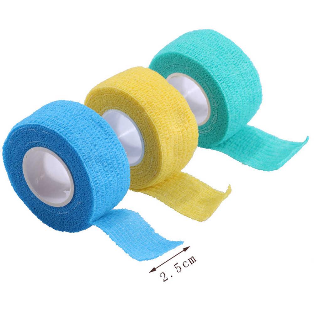 מכירה לוהטת אקראי צבע מקצועי נייל אמנות UV ג 'ל פולני להסיר תחבושת עצמי דבק מתגלגל קלטת נייל אמנות כלי צבעים בוהקים