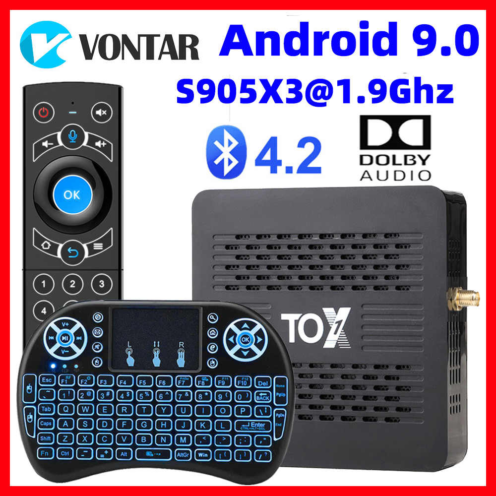 2020 TOX1 Tv Box Android 9.0 Smart Tvbox 4Gb Ram 32G Rom Amlogic S905X3 Dual Wifi 1000M BT4.2 4K Set Top Box Ondersteuning Dolby Audio