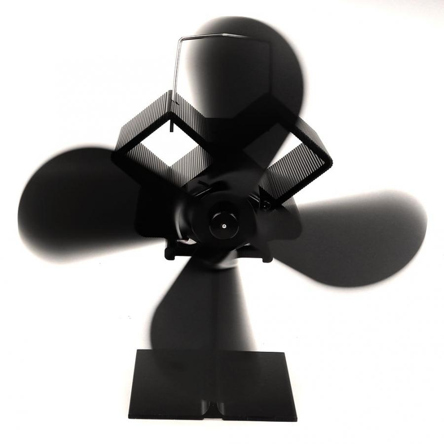 Portable Fan 4 Blades Eco-friendly Fireplace Heat Fan Heat Powered Stove Fan For Home Air Conditioning For Home