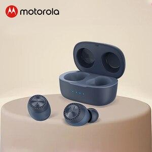 Motorola True Wireless Earphone VerveBuds 200 Bluetooth 5.0 Headset IPX5 Waterproof Sport Earbuds with Neck Strap