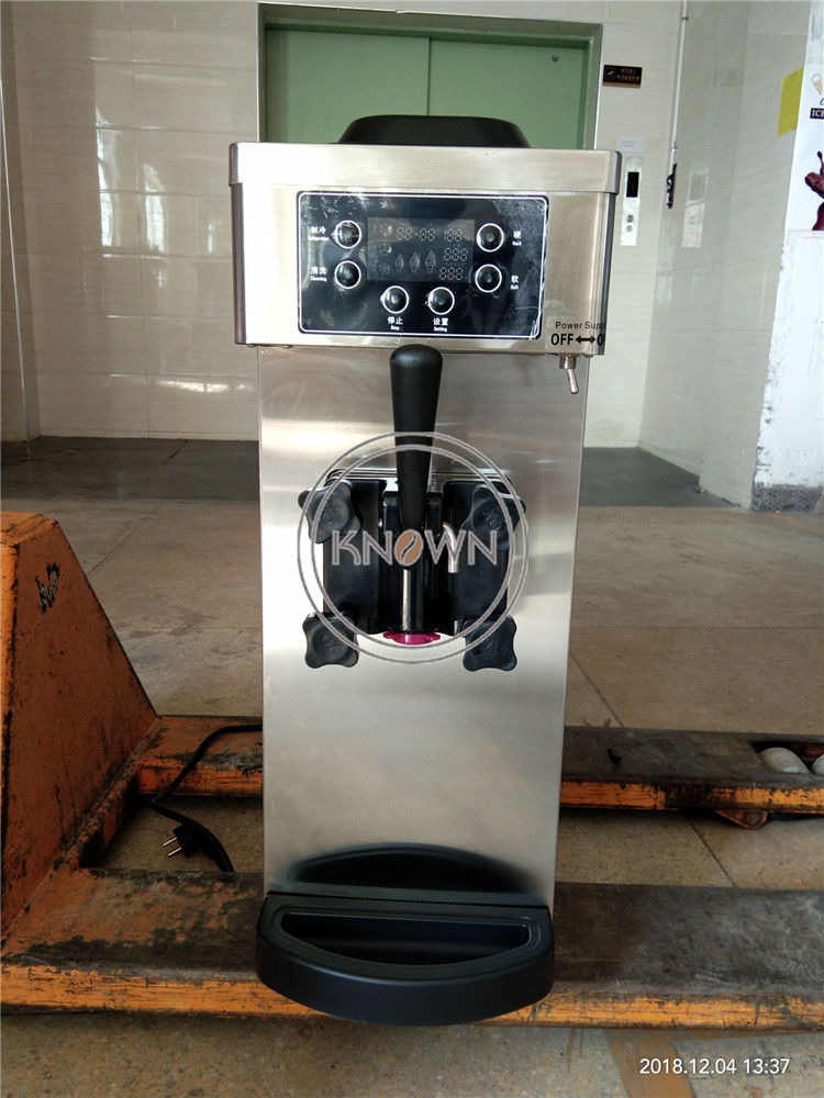 8L Hot Sale Stainless Steel Structure And Durable Commercial Ice Cream Machinery / Soft Ice Cream Machine Free Shipping By Sea