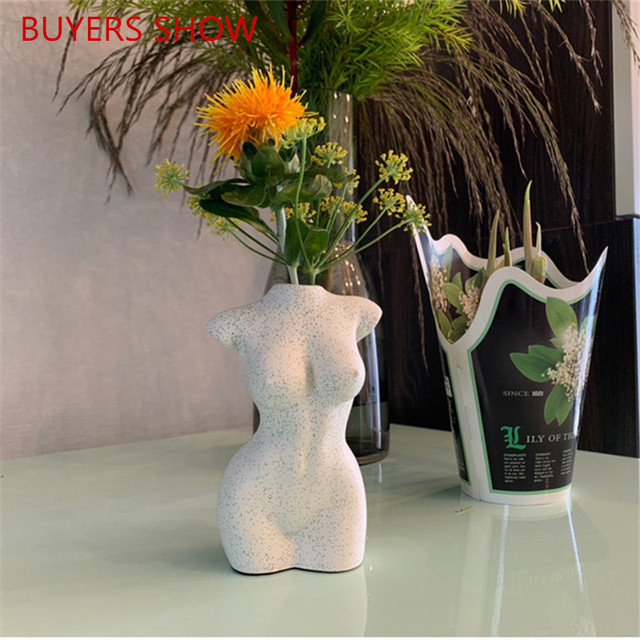 Body Art Design Flower Vase Nude Female Sculpture Flower Vase Creative Hobby Vase Planting Machine Home Decor Ornamental A1449 6