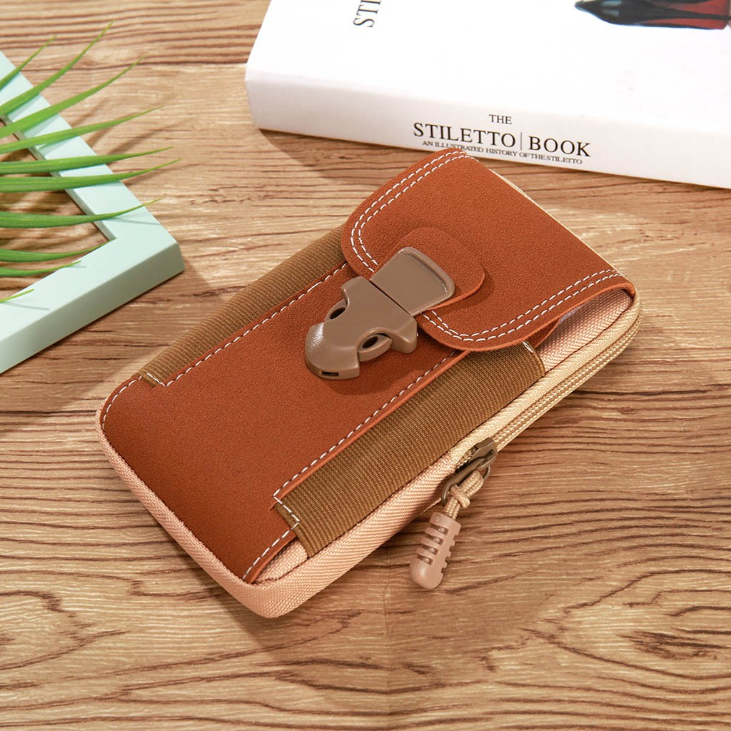 Men Leather Waist Bag Cell/Mobile Phone Coin Purse Pocket Belt Bum Pouch Pack Vintage Hip Bag Case For IPhone Waist Bags