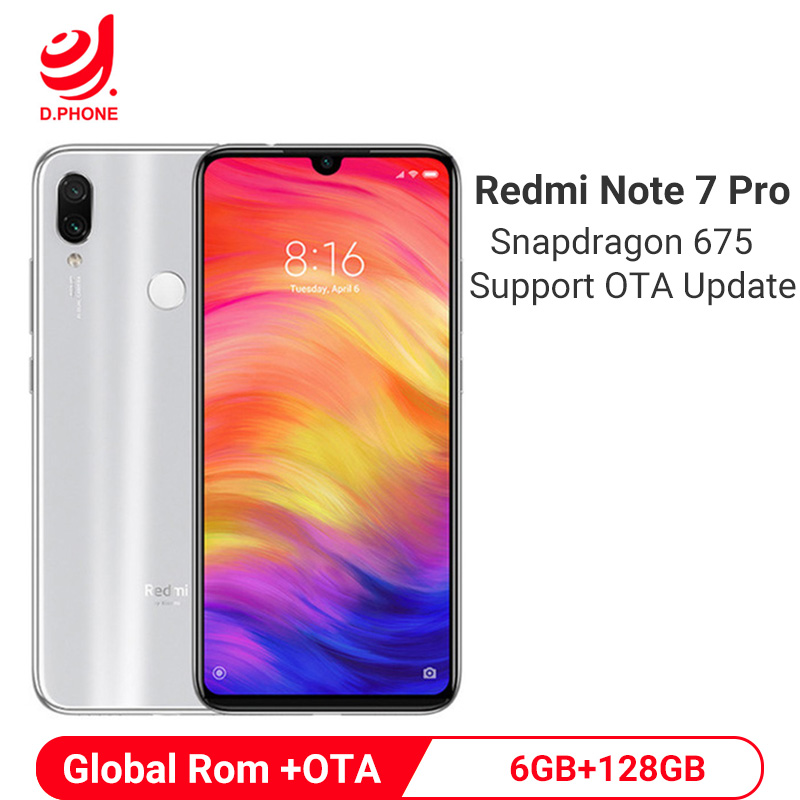 Official Global Rom Xiaomi Redmi Note 7 Pro 6GB 128GB Snapdragon 675 Octa Core Mobile Phone 48MP Dual Camera 4000mAh Smartphone image