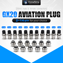 GX20 2/3/4/5/6/7/8/9/10/11/12 контактный штекер + гнездо 20 мм круглый проводной панельный авиационный разъем, промышленная розетка