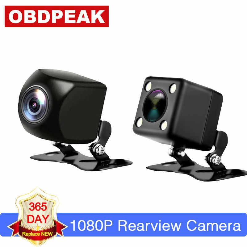 ด้านหลังกล้องกันน้ำมุมกว้าง Night Vision กล้องสำรองข้อมูลรถยนต์ที่จอดรถ 170 องศากล้องซอฟต์แวร์