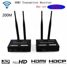 цена на 200M 5GHz IR WiFi Wireless Transmission System HDMI Extender Extension Transmitter Receiver Video Converter PC To TV HDMI Sender