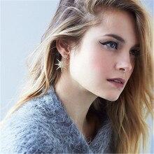 Women Female Vintage Big Dangle Drop Earrings Fashion Snowflake Zircon Metal Earrings Jewelry Wholesale-ZN-W17
