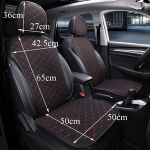 Image 2 - Front Car Seat Cover With Backrest Universal Breathable Linen Seat Cushion Protection Mat Pad Auto Seat Fit Interior Accessories