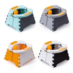 Детское сиденье для обучения горшку Детский Малыш уличный портативный складной туалет писсуар горшок